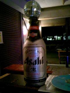 生ビール終了のお知らせ